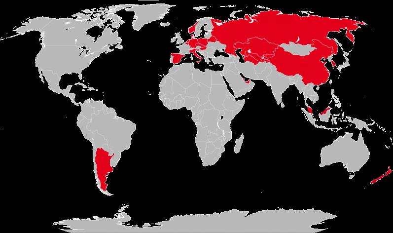 Weltkarte-Partner