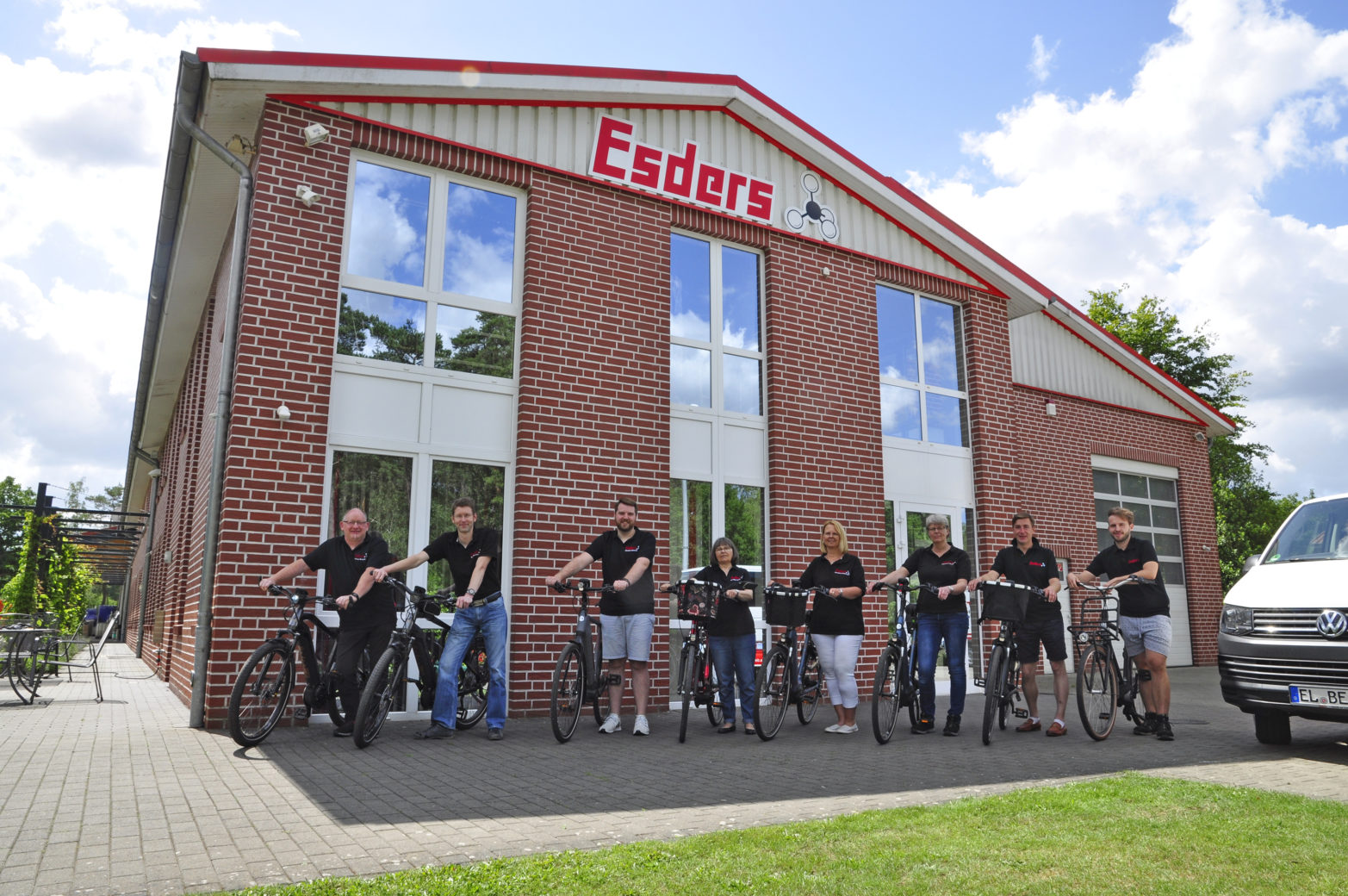 Fahrradleasing-Gruppenfoto