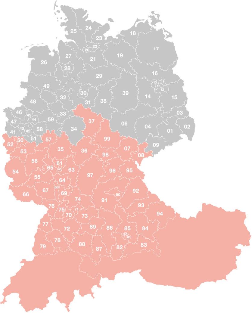 Vertriebsgebiet-Bauer
