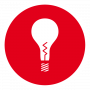 Elektroniker Symbol Glühbirne